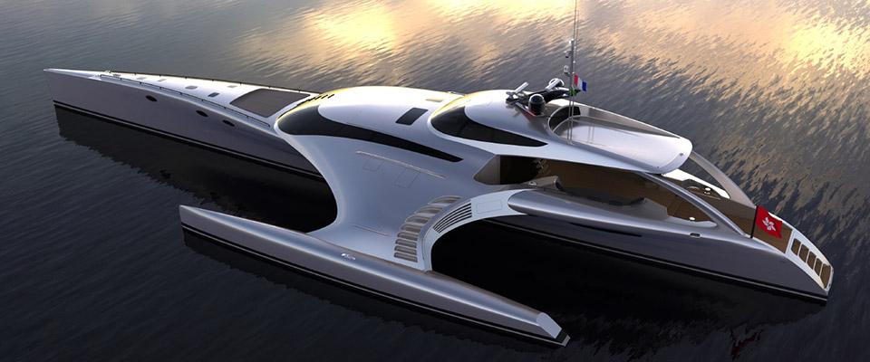 futuristic yacht composite materials