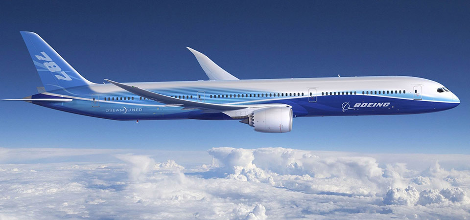 Composites used in Boeing 787